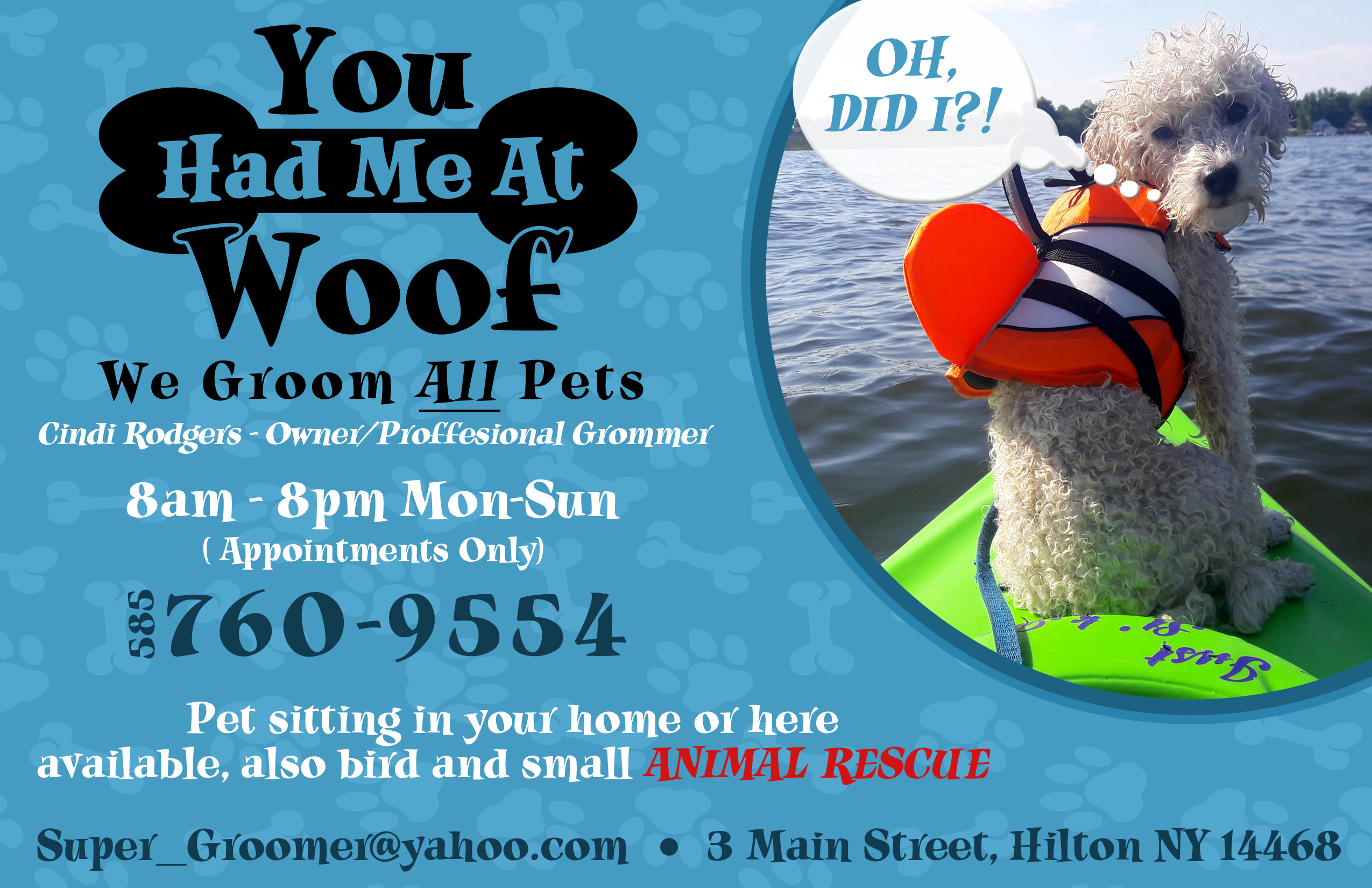 YOU HAD ME AT WOOF Groomer/Rescue « Community of Pets